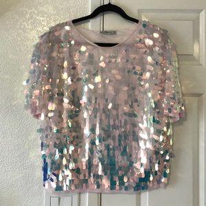 ZARA sequin blouse.